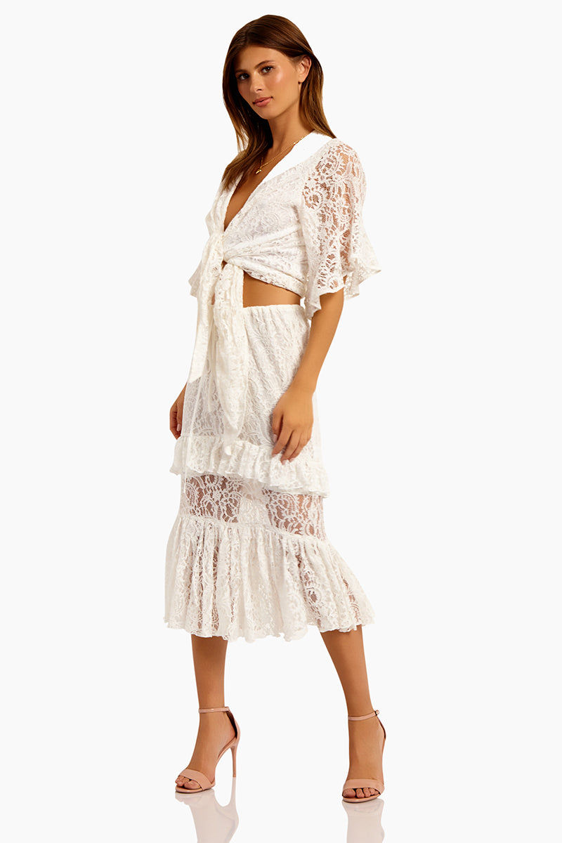 bf7183340 SUBOO Sweet Thing Lace Midi Skirt - White | BIKINI.COM