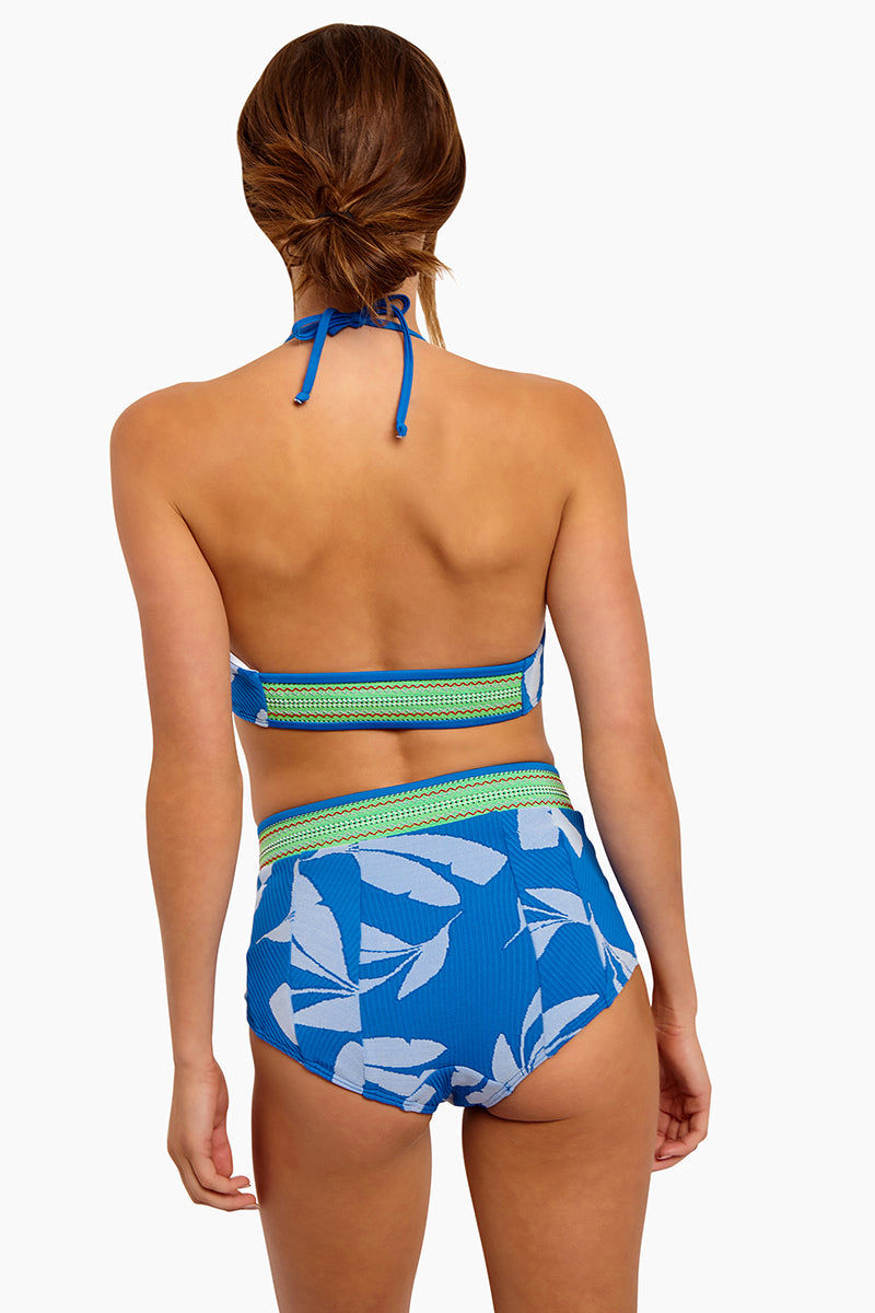 SEEA Arcadia High Waist Full Coverage Bikini Bottom - Masa Print Bikini Bottom | Masa| Seea Arcadia High Waist Bikini Bottom - STYLE:  High-waisted bikini bottom The pattern lines contour your body for the most flattering look. Angled leg cut with princess seam elongates your legs. Full coverage is best for the beach babe who wants coverage, support, and shaping. Back View