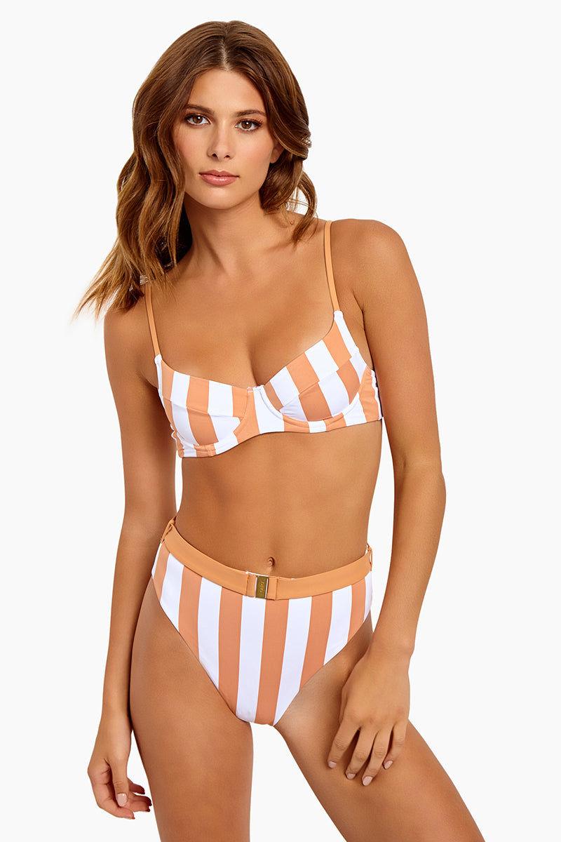 d74c1bae01 ONIA Lydia Underwire Bikini Top - Nude Stripes | BIKINI.COM