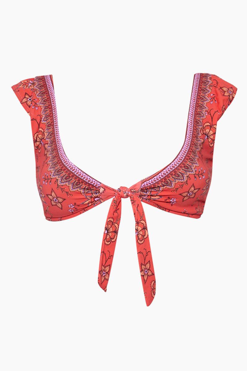 QUINTSOUL Cap Sleeve Front Tie Bikini Top - Indonesia Bikini Top | Indonesia| QUINTSOUL Cap Sleeve Front Tie Bikini Top Front View