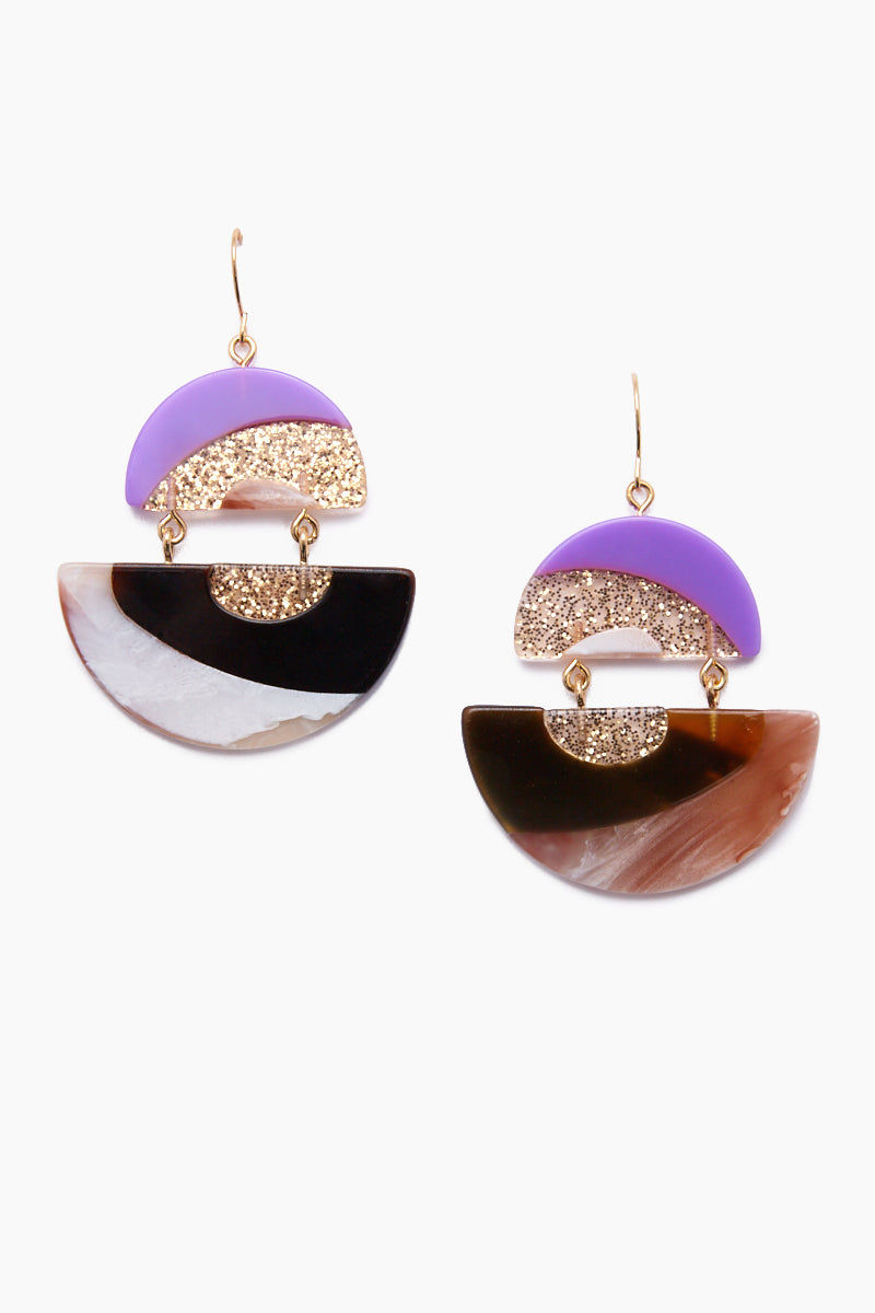 JONESY WOOD Ashley Earrings - Multicolored Jewelry | Multicolored| Jonesy Wood Ashley Earrings - Multicolored.Features:  Dreamy double-drop acrylic earrings French hook closure Front View