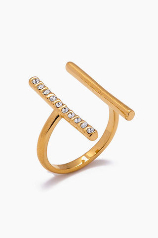 JONESY WOOD Georgina Ring - Gold Jewelry | Gold| Jonesy Wood Georgina Ring - Gold.Features:  Wire crystalized ring Clean lines blend Front View