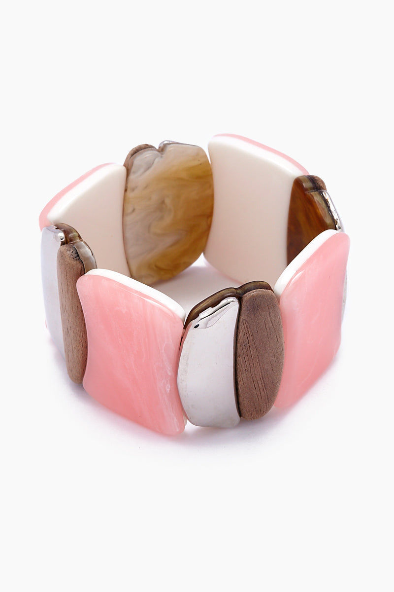 JONESY WOOD Darby Bracelet - Multicolored Jewelry | Multicolored| Jonesy Wood Darby Bracelet - Multicolored.Features:  Acrylic stretch bracelet. Front View