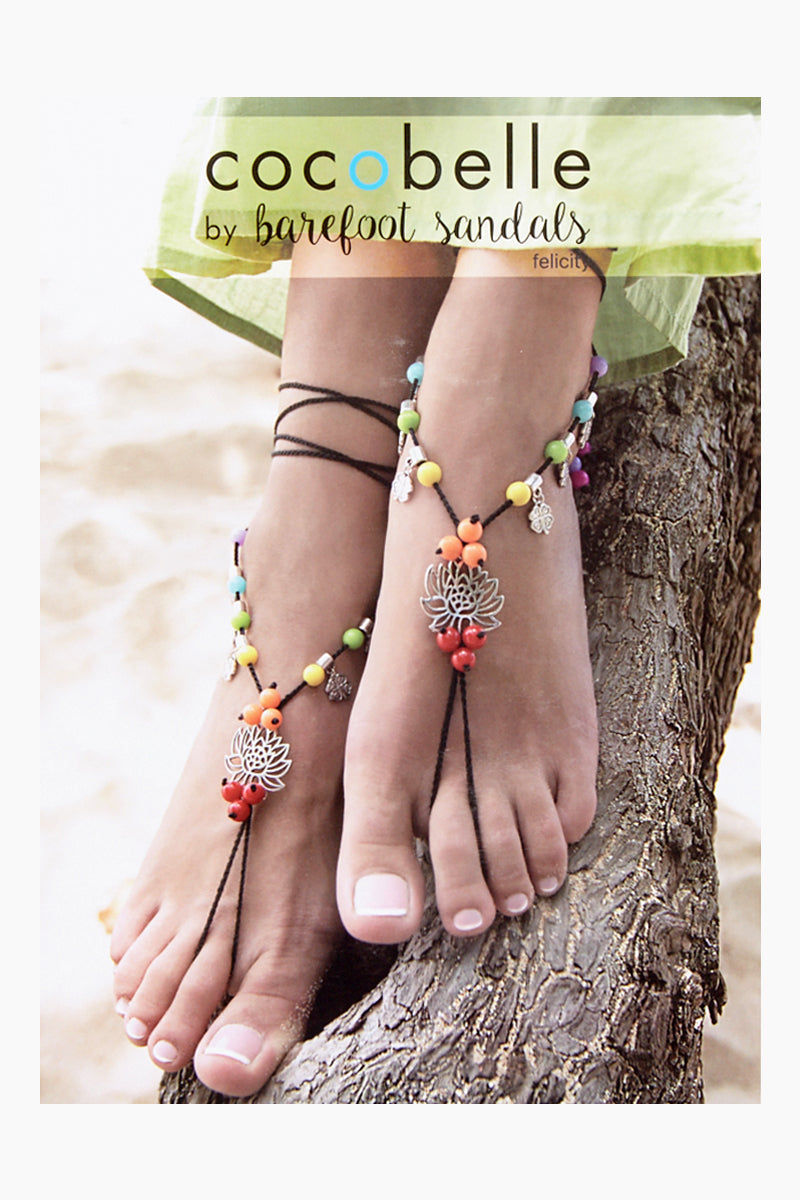 COCOBELLE Barefoot Sandals - Felicity Jewelry |  Felicity| Cocobelle Barefoot Sandals - Felicity. Features:  Chic barefoot sandals Look great at poolside, yoga class, beach wedding Barefoot or paired with other shoes One size fits all Front View