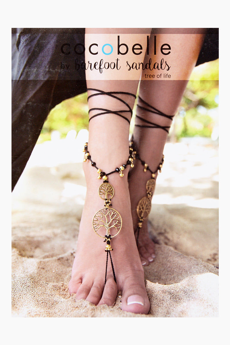 COCOBELLE Barefoot Sandals - Tree of Life Jewelry | Tree of Life| Cocobelle Barefoot Sandals - Tree of Life. Features:  Gold tree of life barefoot accessories Chic barefoot sandals Look great at poolside, yoga class, beach wedding Barefoot or paired with other shoes One size fits all Front View