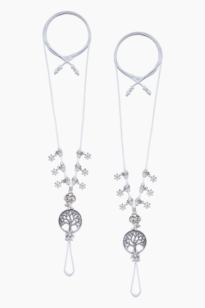 COCOBELLE Barefoot Sandals - Frangipani Jewelry | Frangipani| Cocobelle Barefoot Sandals - Frangipani. Features:  Ivory beads with tree/ leaf charms Chic barefoot sandals Look great at poolside, yoga class, beach wedding Barefoot or paired with other shoes One size fits all Front View