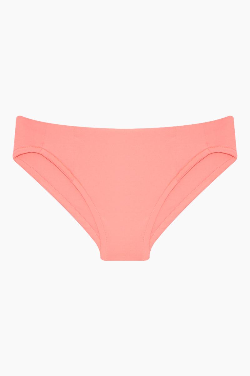 MAYLANA KIDS Rasha Bikini Set (Kids) - Salmon Kids Bikini | Salmon | Maylana Kids Rasha Bikini Set (Kids) - Salmon Features: Kid's Rashguard & Bikini Bottom  High Neck Longsleeves  Mid Rise Bottom Bottom View