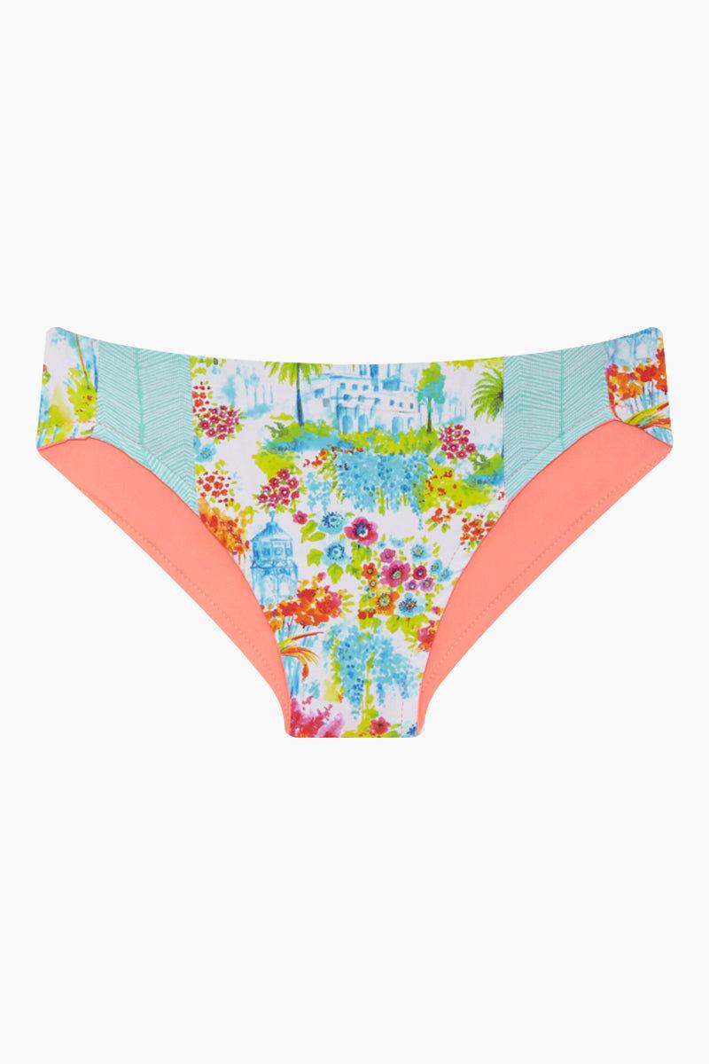 MAYLANA KIDS Rasha Bikini Set (Kids) - Botanic Gardens Kids Bikini | Botanic Gardens| Maylana Kids Rasha Bikini Set (Kids) - Botanic Gardens Features: Kid's Rashguard & Bikini Bottom  High Neck Longsleeves  Mid Rise Bottom Bottom View