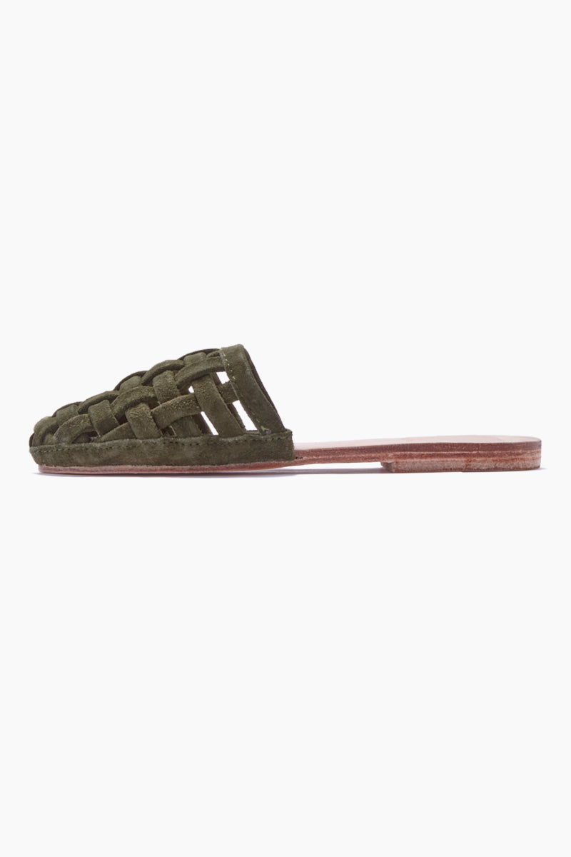 8ae9d5a1e828f Cage Strappy Sandals - Olive