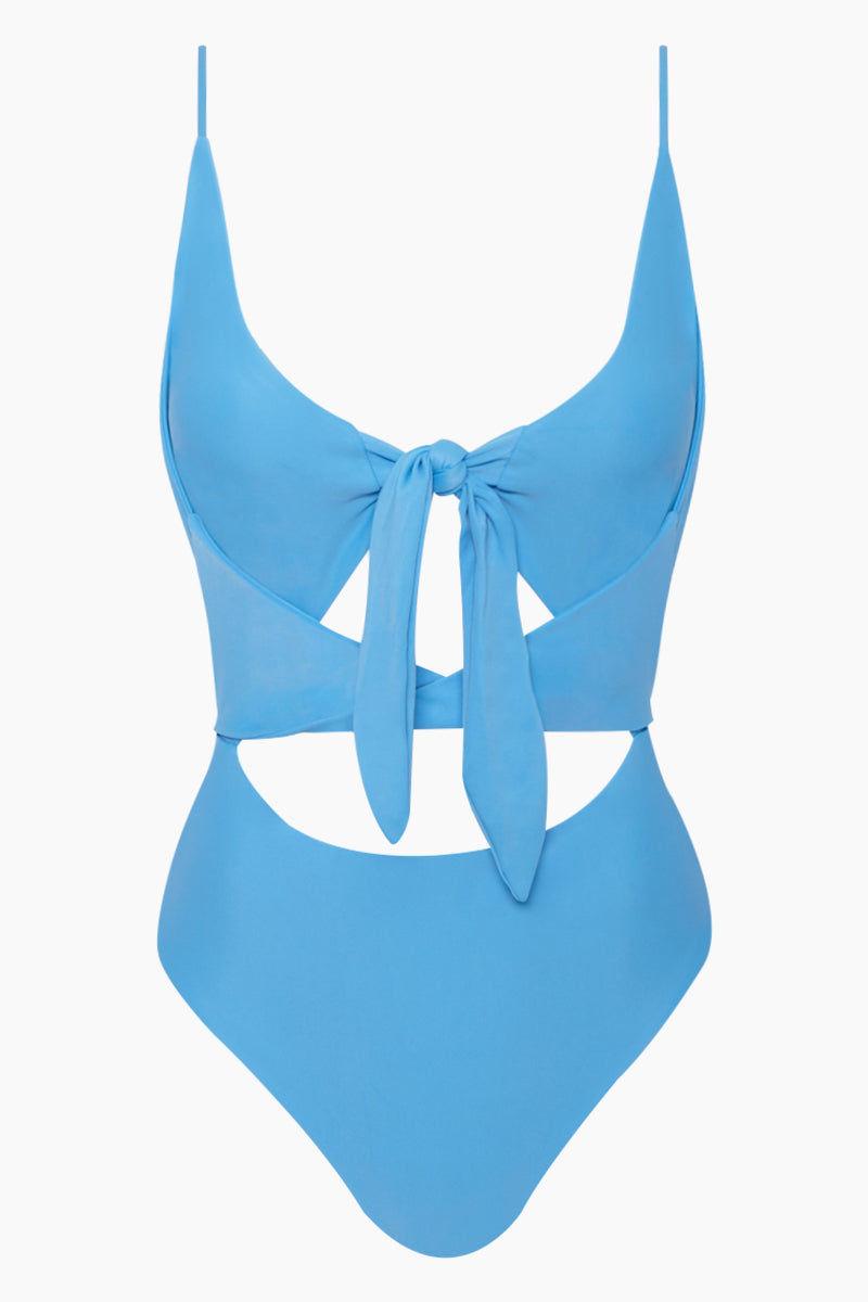 AILA BLUE Frankie Front Tie Cut Out One Piece Swimsuit - Patriot Blue One Piece | Patriot Blue| Frankie Front Tie Cut Out One Piece Swimsuit - Patriot Blue