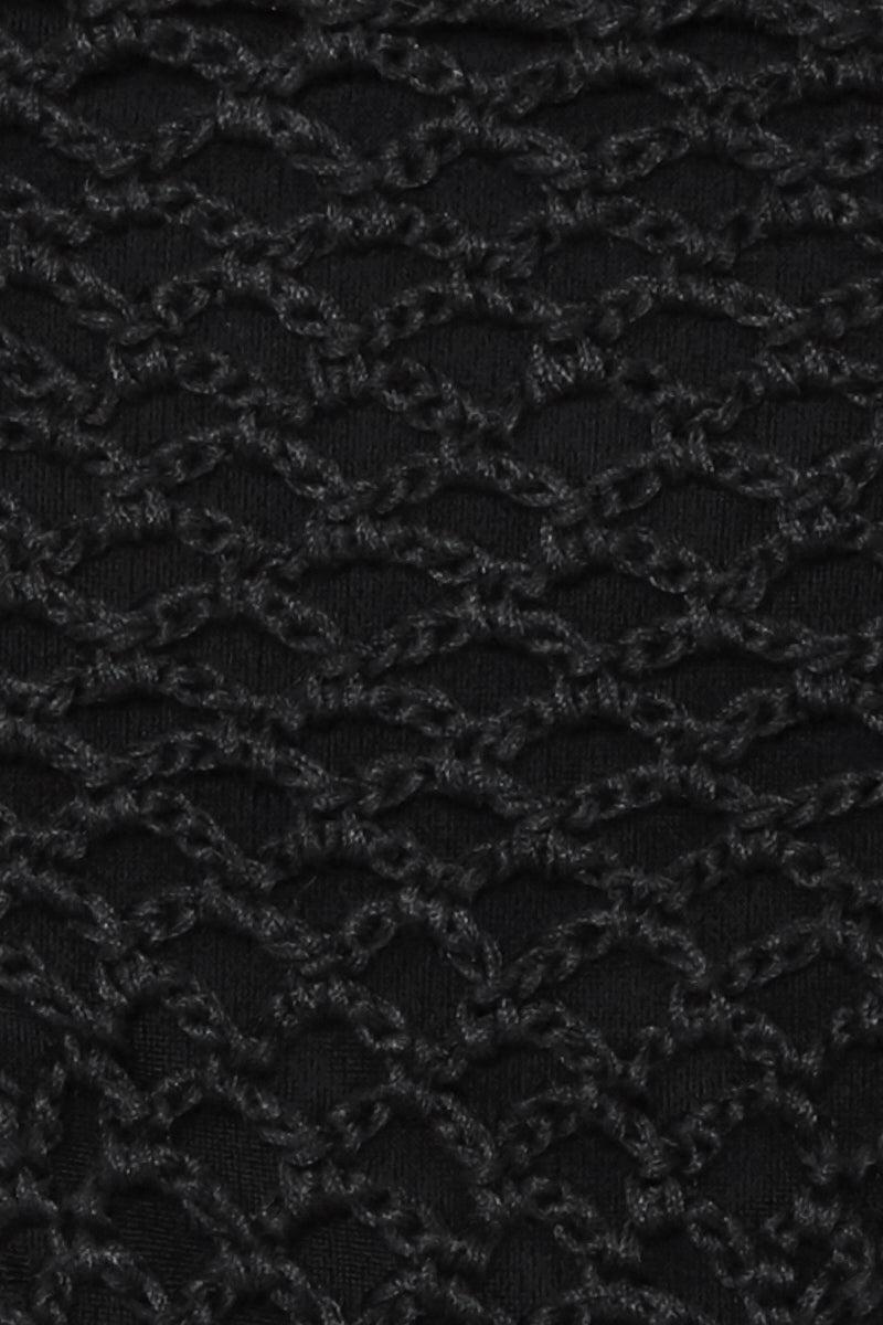 ACACIA Polihale Tie Side Bikini Bottom - Black Bikini Bottom | Black| Acacia Polihale Tie Side Bikini Bottom - Black Black tie side bikini bottom. Crochet overlay Close View
