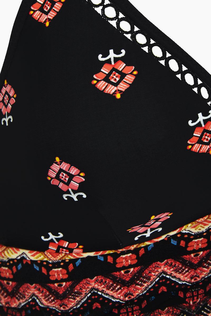 EVERYDAY SUNDAY Crop Crochet Bikini Top - Small Flower Bikini Top | Small Flower| Everyday Sunday Crop Crochet Bikini Top - Small Flower