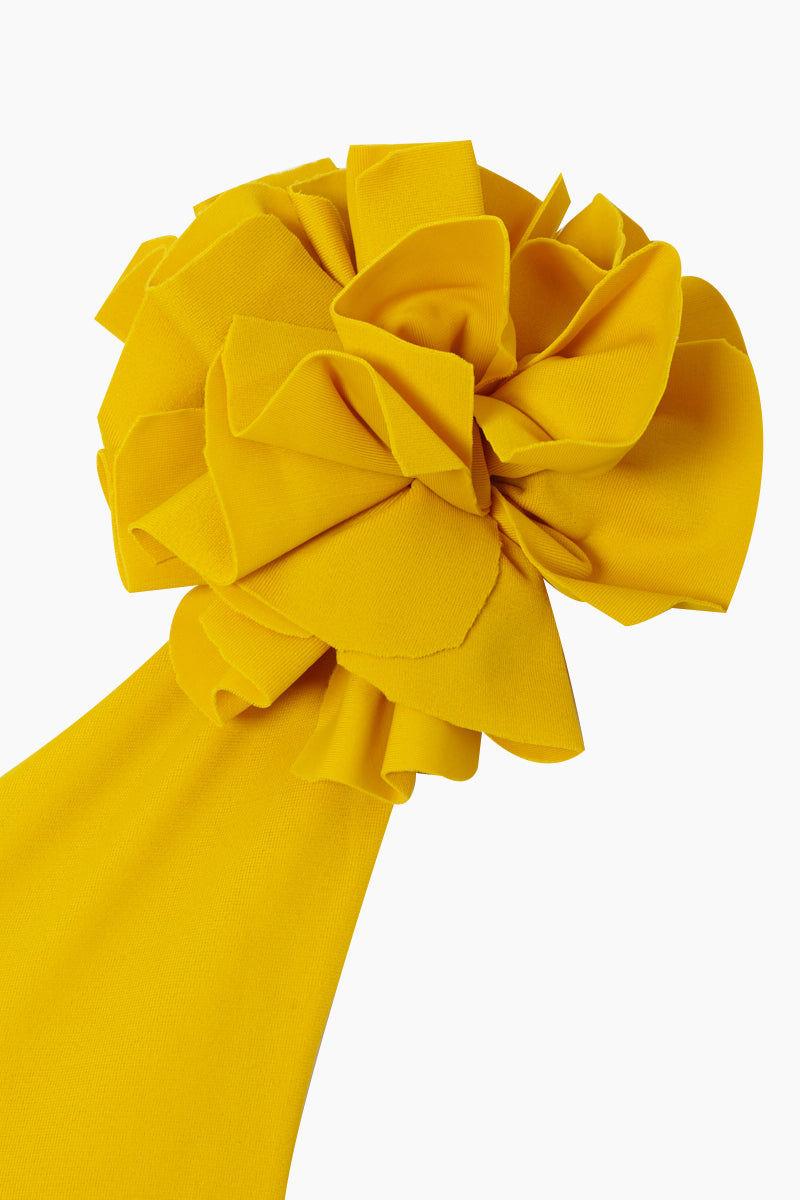 JUAN DE DIOS Pijiba One Shoulder Bikini Top - Mustard Bikini Top | Mustard| Juan De Dios Pijiba One Shoulder Bikini Top - Mustard