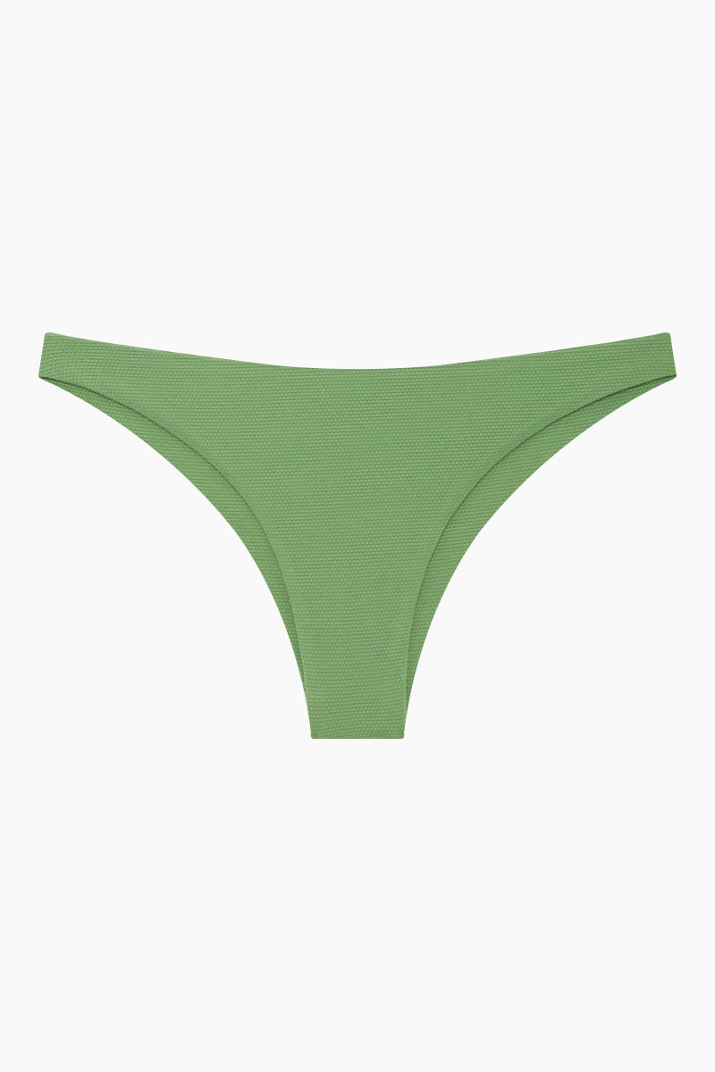 WILDASTER Blake Hipster Cheeky Bikini Bottom - Spearmint Green Bikini Bottom | Spearmint Green| Wildaster Blake Hipster Cheeky Bikini Bottom - Spearmint Green Low Rise Bottom  Cheeky-Moderate Coverage  Seamless Stitching Double Lined  80% Nylon / 20% Spandex Front View