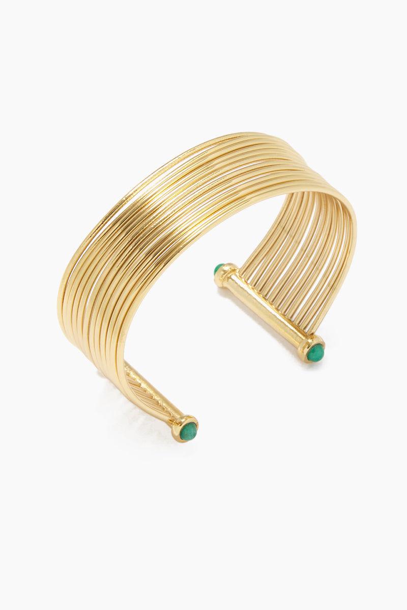 FENOMENA Emerald New Geo Bracelet - Gold Jewelry   Gold  Emerald New Geo Bracelet - Gold
