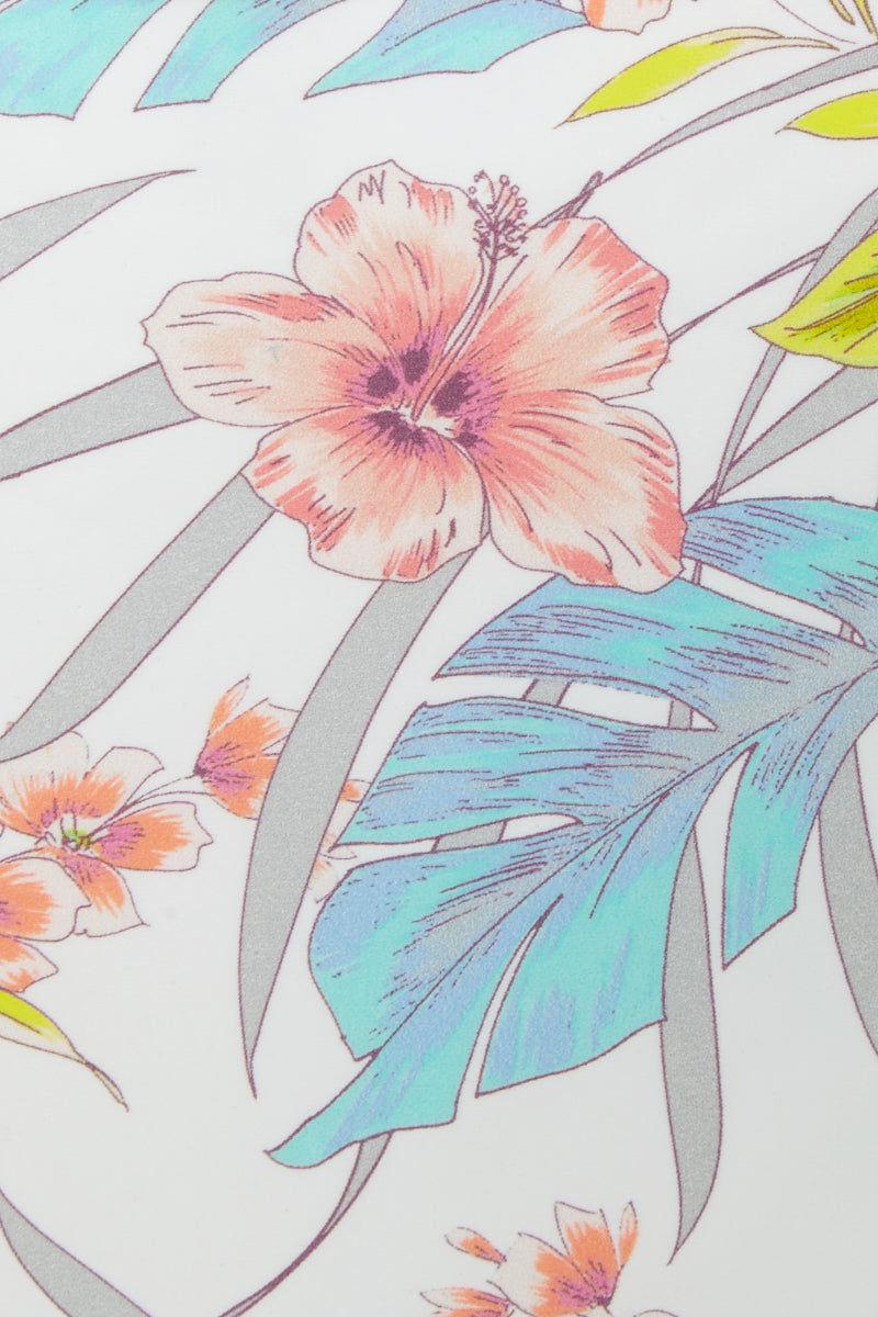 RAISINS Miami Ruched Bikini Bottom - White Water Print Bikini Bottom | White Water Print| Raisins Miami Ruched Bikini Bottom - White Water Print Hipster Ruched Back Moderate - Full Coverage Fabric Content: Nylon/ Spandex  Close View