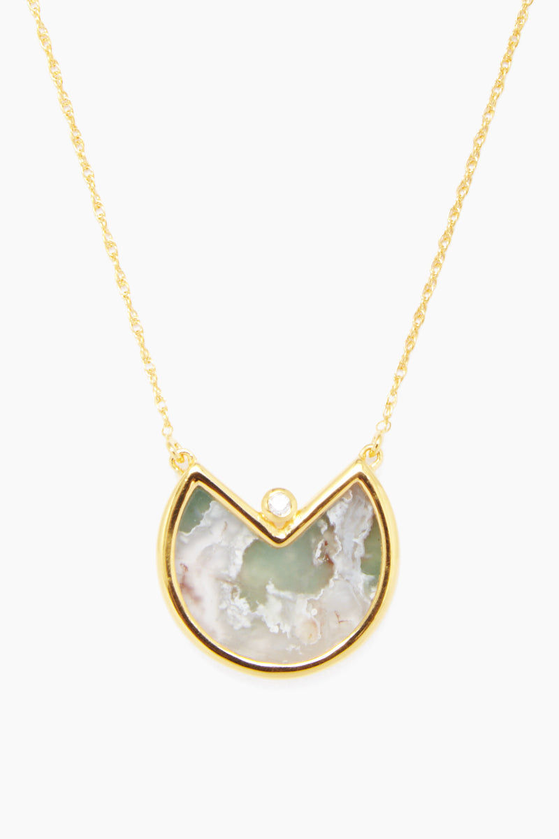 """CARRIE ELIZABETH 14K Gold Vermeil Semi Precious Stone - Gold/ Aquaprase Jewelry 