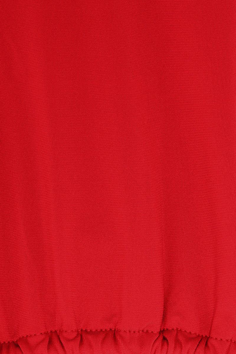 MONICA HANSEN BEACHWEAR That 90's Vibe String Bikini Top - Red Bikini Top | Red| Monica Hansen That 90's Vibe String Bikini Top - Red Features:   Triangle Bikini Top  Halter Neck  Center Back Tie Closure Close View