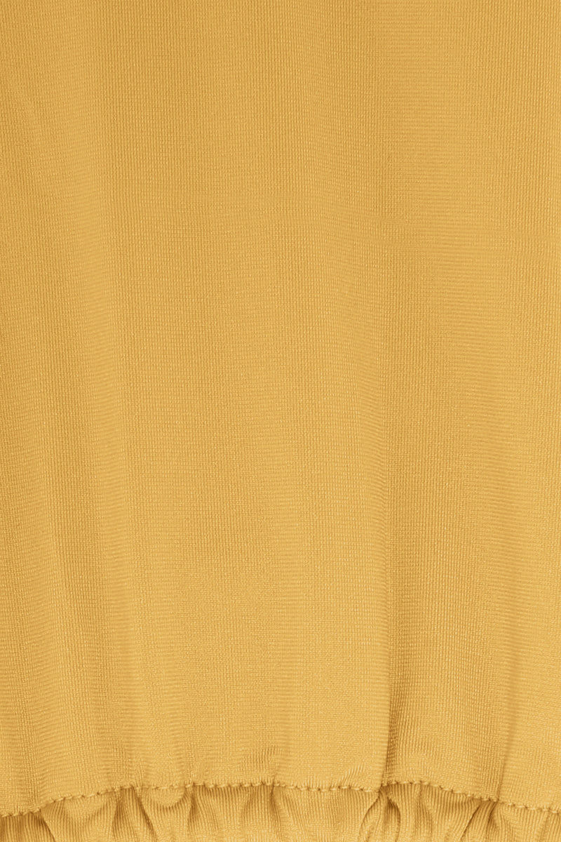 MONICA HANSEN BEACHWEAR That 90's Vibe String Bikini Top - Honey Bikini Top | Honey| Monica Hansen That 90's Vibe String Bikini Top - Honey Triangle Bikini Top  Halter Neck  Center Back Tie Closure  Close View