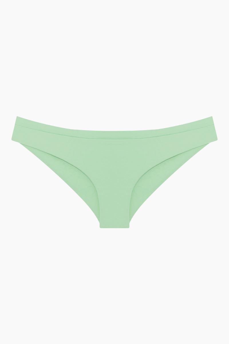 KHONGBOON Mali Moderate Bikini Bottom - Mint Bikini Bottom | Mint| Khongboon Mali Moderate Bikini Bottom - Mint front view flat