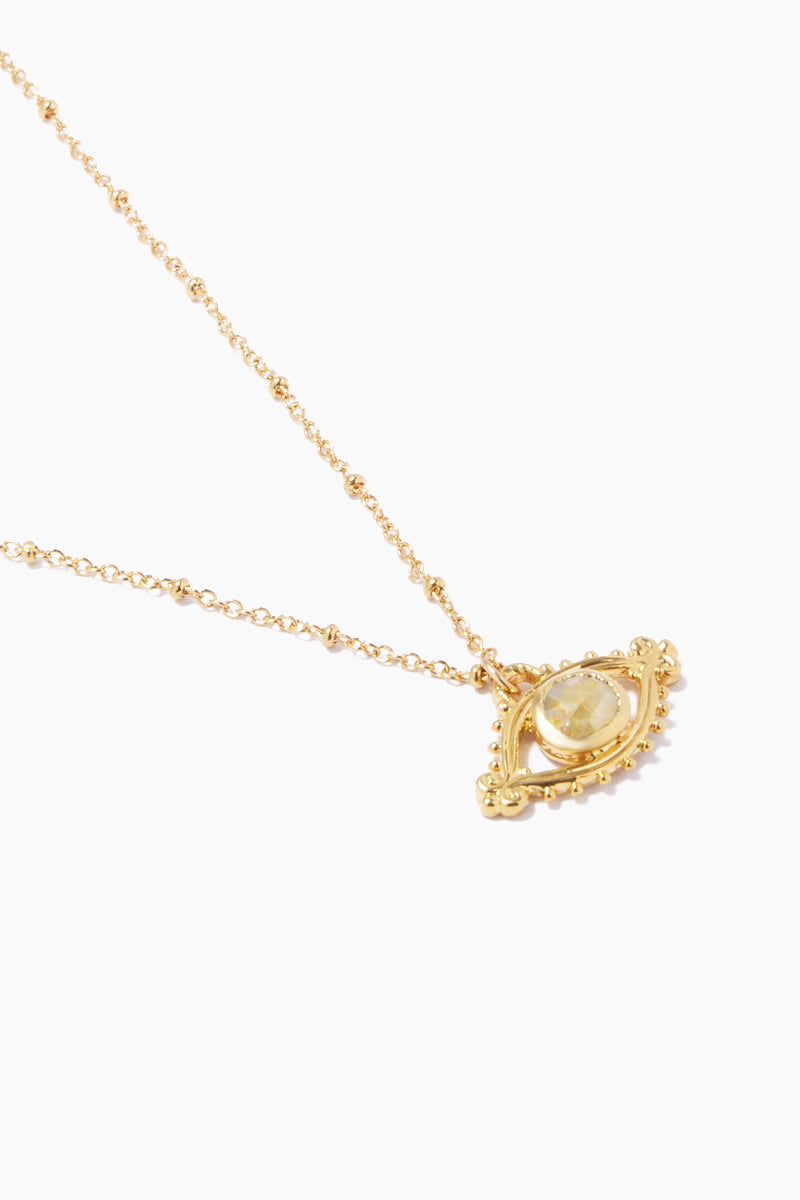 """LUX DIVINE Iris Necklace - Yellow Jewelry 