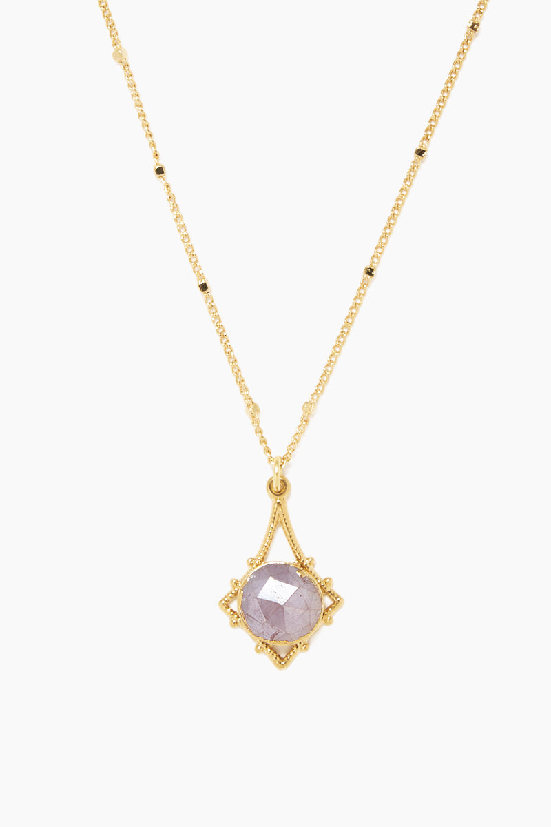 """LUX DIVINE Tempest Pendant Necklace - Dusty Rose Jewelry 