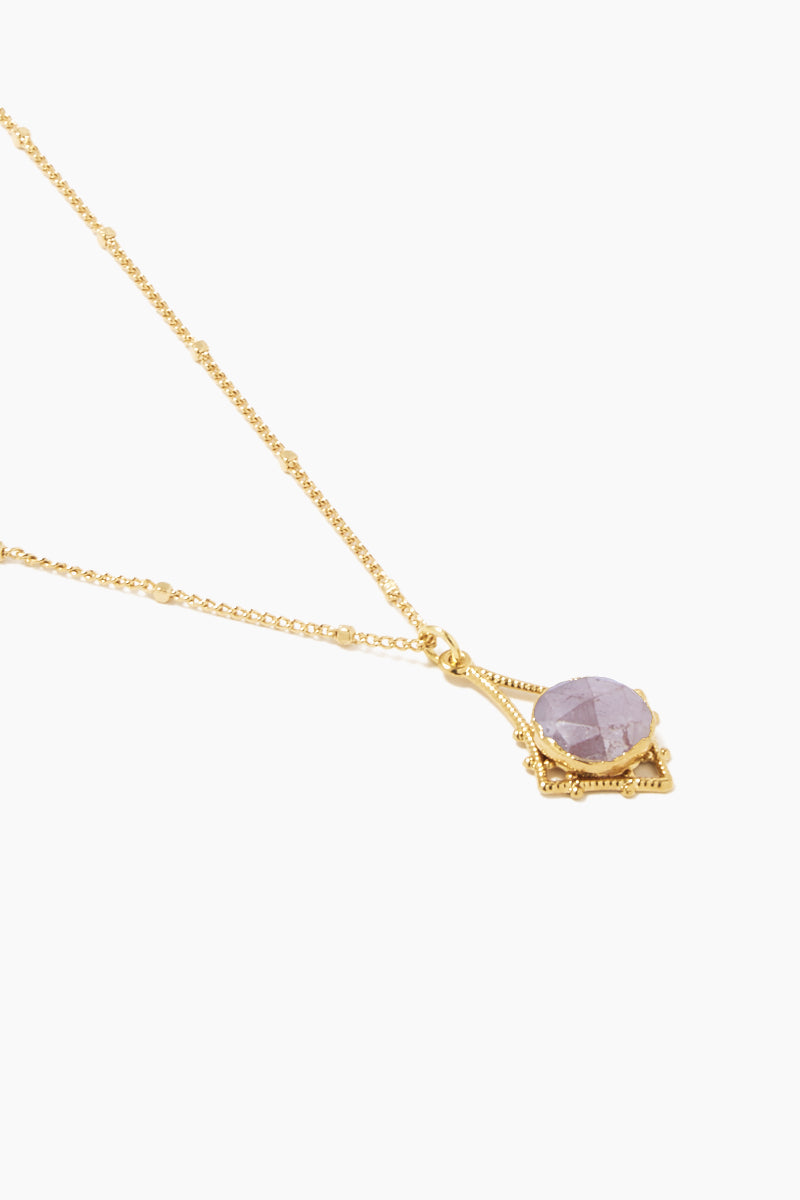 """LUX DIVINE Tempest Necklace - Dusty Rose Jewelry 