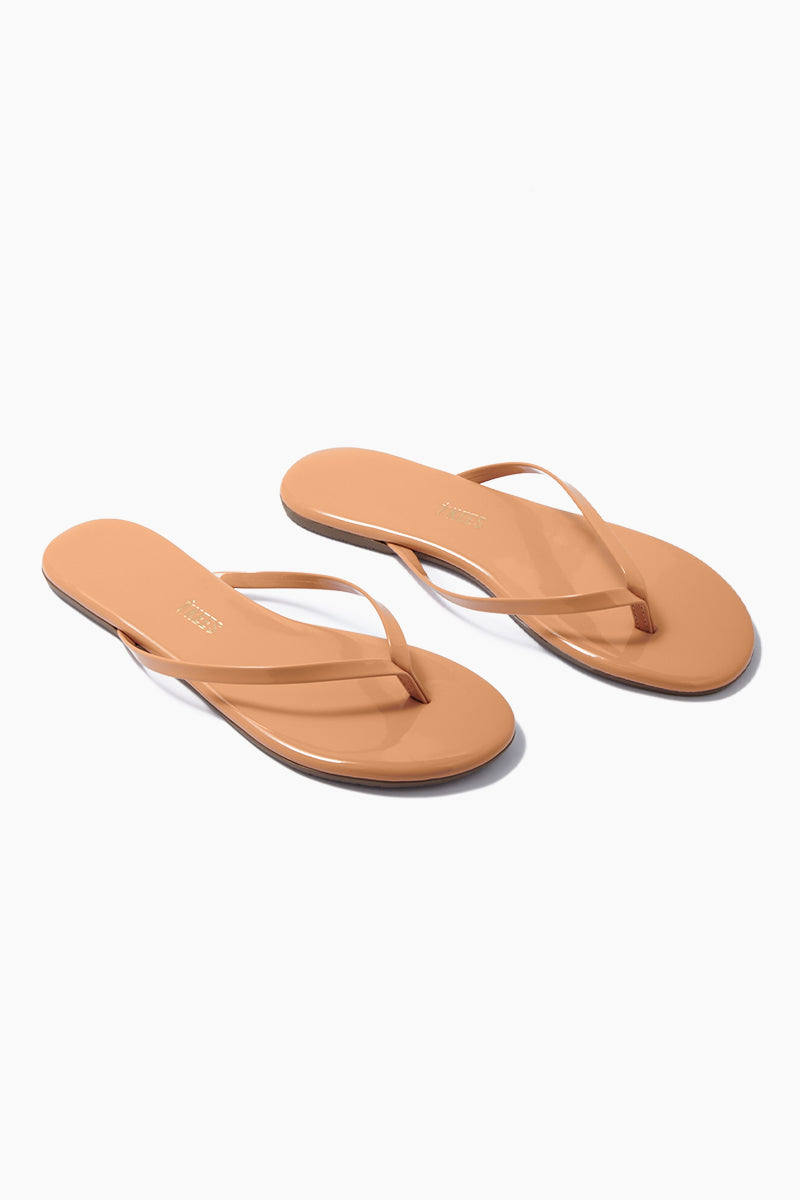 TKEES Foundations Gloss Sandals - Sunbliss Sandals | Sunbliss| TKEES Foundations Gloss Sandals - Sunbliss Features:  Nude Flip Flops Made in Brazil    Material:  Cowhide Leather Upper Cowhide Leather Insole Rubber Outsole Side View