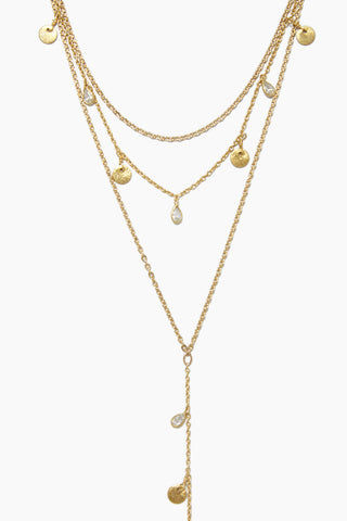 GEMELLI JEWELRY Hera Necklace - Gold Jewelry | Gold| Gemelli Jewelry Hera Necklace - Gold. Features:  Multi-layer necklace Gold plated Adjustable lobster clasp closure  Front View
