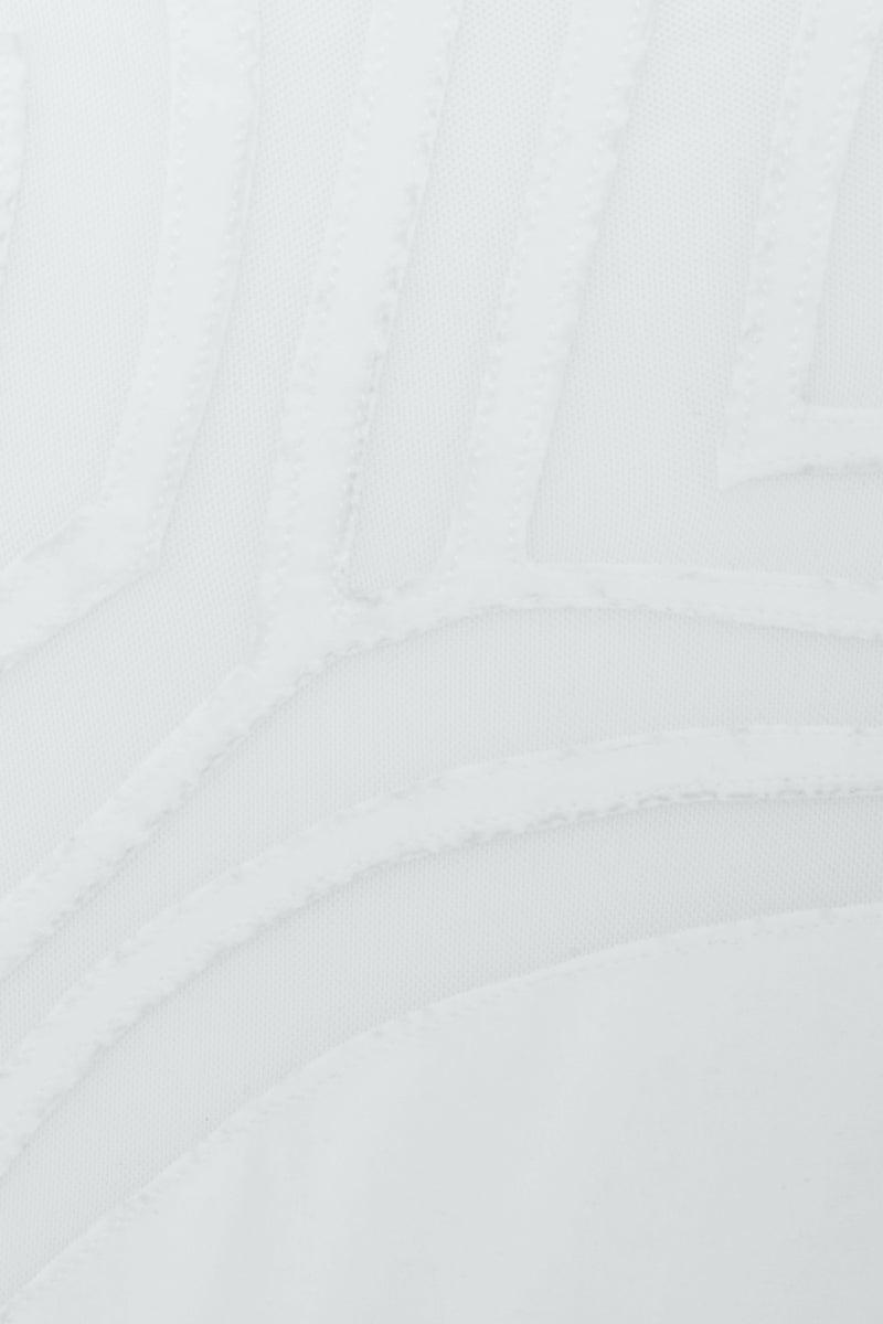 LEE + LANI Desert Storm Mesh High Waisted Bikini Bottom - White Bikini Bottom | White| Desert Storm Mesh High Waisted Bikini Bottom - White High waist Geometric mesh detail  cheeky coverage  Close View