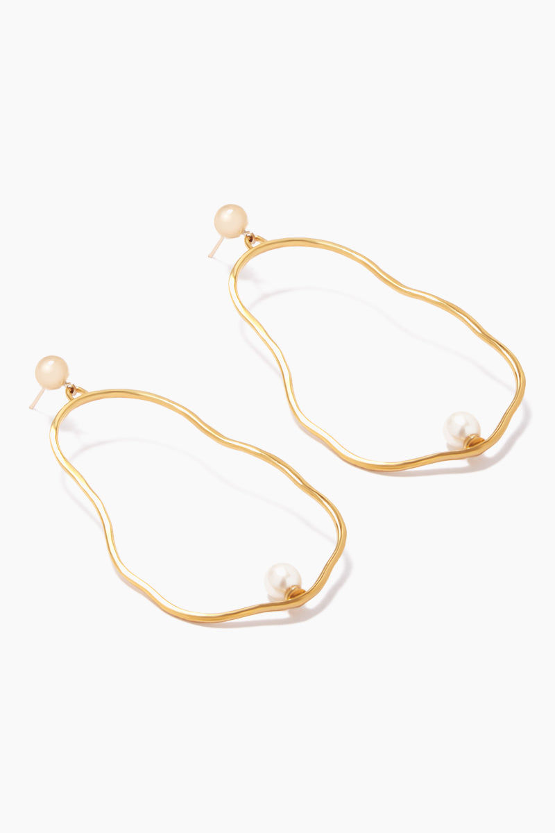 """DEA DIA JEWELRY 14k Gold Ostrea Earrings - Pearl Jewelry 