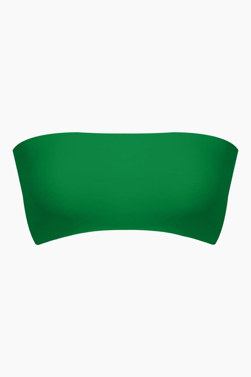 REVERSE Lean On Strapless Bandeau Bikini Top - Green Bikini Top   Green  REVERSE Lean On Bandeau Bikini Top - Green Bandeau style  Strapless  Crop like  Front View