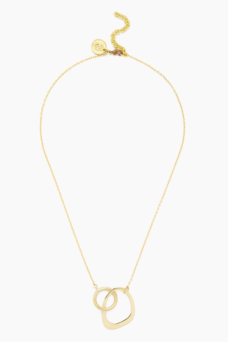 SOKO JEWELRY Open Sabi Link Necklace - Brass Jewelry | Brass| Soko Jewelry Open Sabi Link Necklace - Brass Necklace with lobster clasp closure Connected oval shaped cut out detail   Recycled polished brass Handcrafted in Kenya  Front View