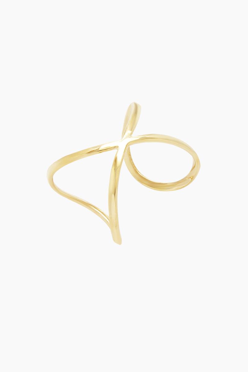 SOKO JEWELRY Infinity Cuff Bracelet - Brass Jewelry   Brass  Soko Jewelry Infinity Cuff - Brass Infinity cuff bracelet  Recycled polished brass Handcrafted in Kenya Front View