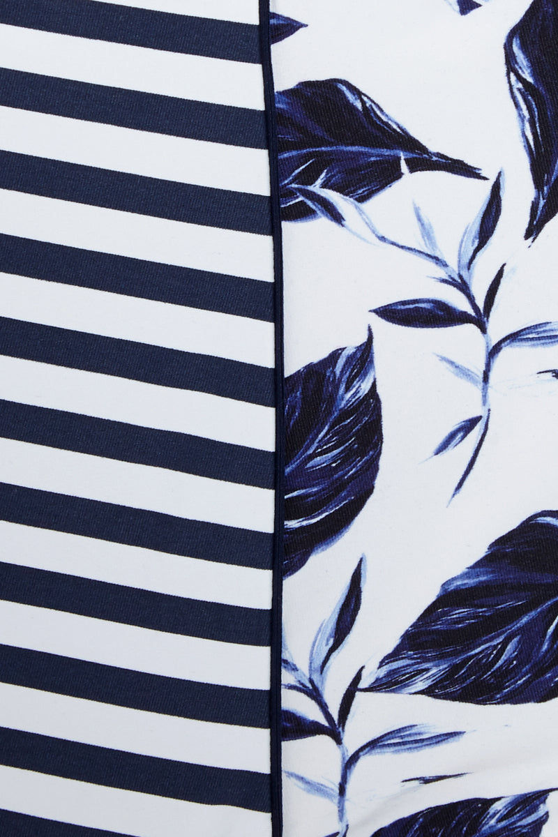 ROBYN LAWLEY Beautiful Fool High Waist Bikini Bottom (Curves) - Santorini Memories Print Bikini Bottom | Santorini Memories Print| Robyn Lawley Beautiful Fool High Waist Bikini Bottom (Curves) - Santorini Memories Print High Waist  Moderate Coverage Close View