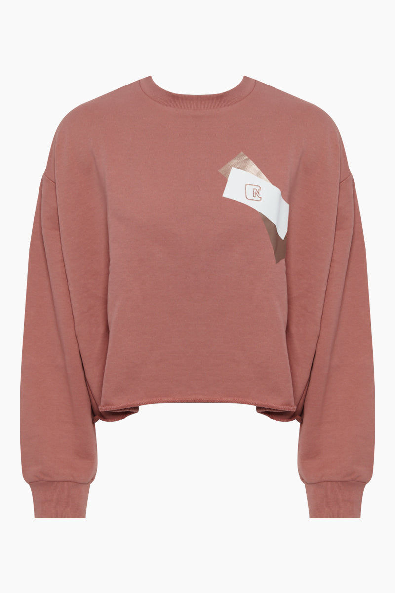 NYLORA Vincent Pullover Top - Dusty Pink Top | Dusty Pink| Nylora Vincent Pullover Top - Dusty Pink Crew neckline  Long sleeves Pullover sweatshirt Front View