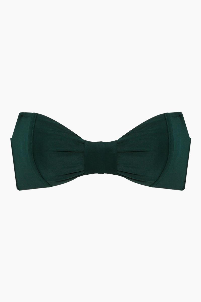 fe305fe0b06861 THE ONES WHO Madeline Convertible Halter Sweetheart Bandeau Bikini Top - Emerald  Green Bikini Top ...