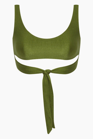 JADE SWIM Bond Multi Way Wrap Bralette Bikini Top - Eden Green Bikini Top | Eden Green| Jade Swim Bond Multi Way Wrap Bralette Bikini Top - Eden Green Features:  Scoop neck wrap top Made in Los Angeles 78% NYLON, 22% Lycra Spandex Hand wash, lay flat to dry Chlorine, oil and cream resistant. Front View