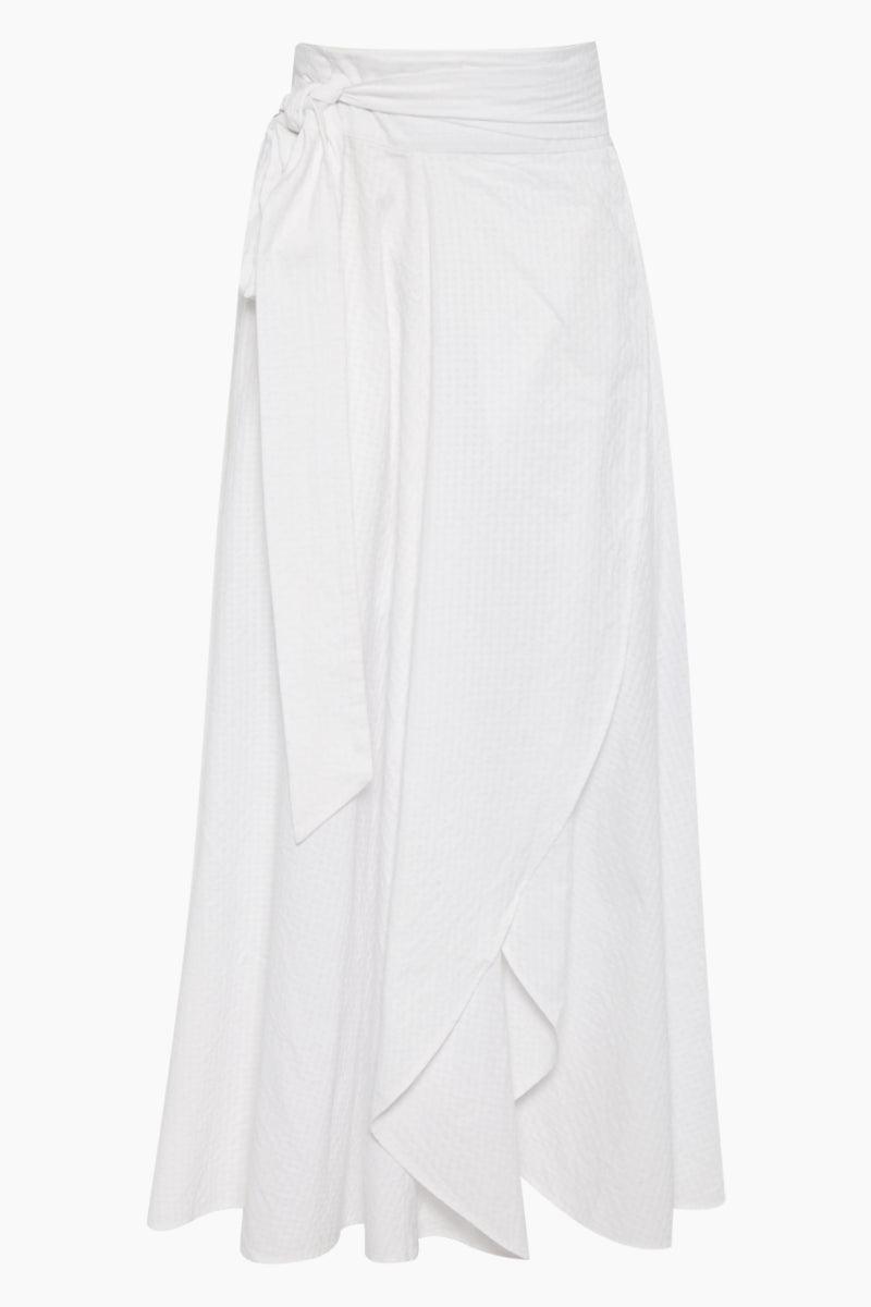 dcc9f509bc EVARAE Milu Wrap Skirt - Textured White