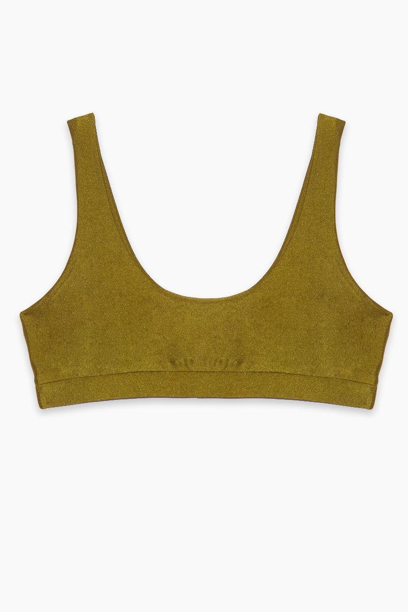 AXIL SWIM Ana Seamless Bikini Top (Curves) - Olive Bikini Top | Olive|