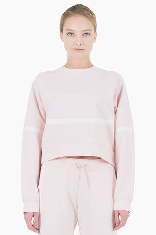 NYLORA Campbell Scoop Neck Long Sleeve Sweatshirt - Blush Top | Blush| Nylora Campbell Pullover Top - Blush. Features:   Pullover Sweatshirt Scoop neckline  Long sleeves  Front View