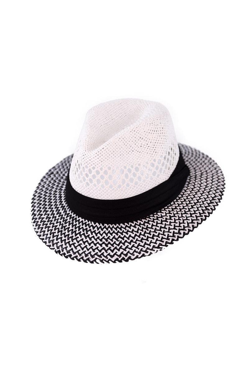 BIKINI.COM Panama Hat Hat   Black/White 