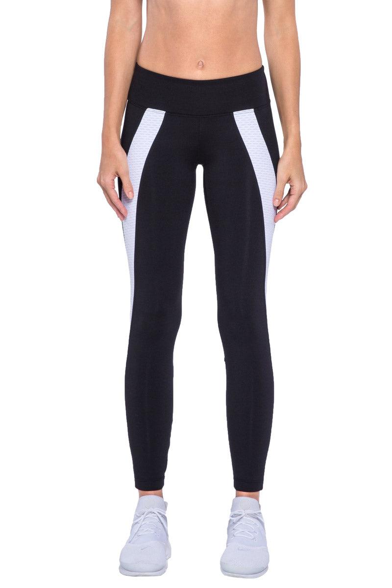 KORAL Hull Legging - Black And White Leggings | Black And White| KORAL Hull Legging Front View