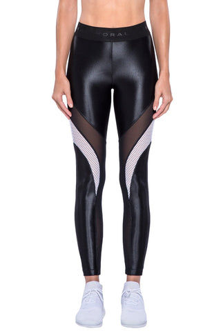 KORAL Frame Legging - Black Leggings | Black| KORAL Frame Legging Front View