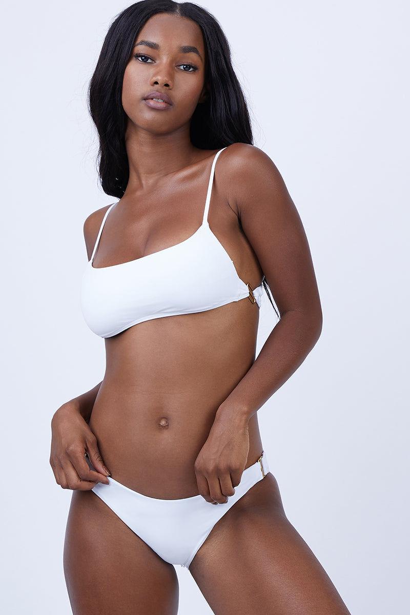 Paige on white see through bikini