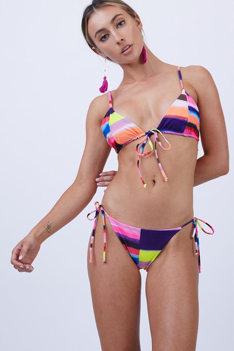 MARA HOFFMAN Tie Front Triangle Bikini Top - Solstice Bikini Top | Solstice| Mara Hoffman Tie Front Triangle Bikini Top