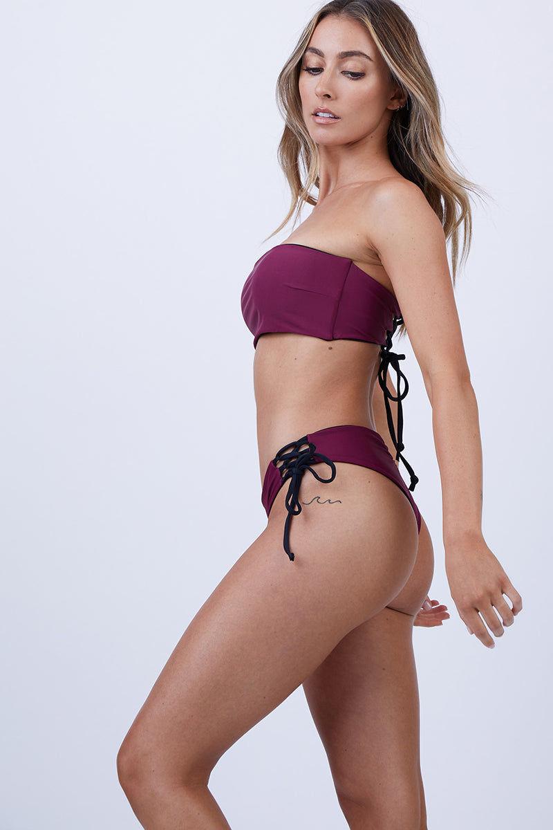 Dahlia Top RavenRed Bella Reversible Bandeau Bikini WEDI9H2Y