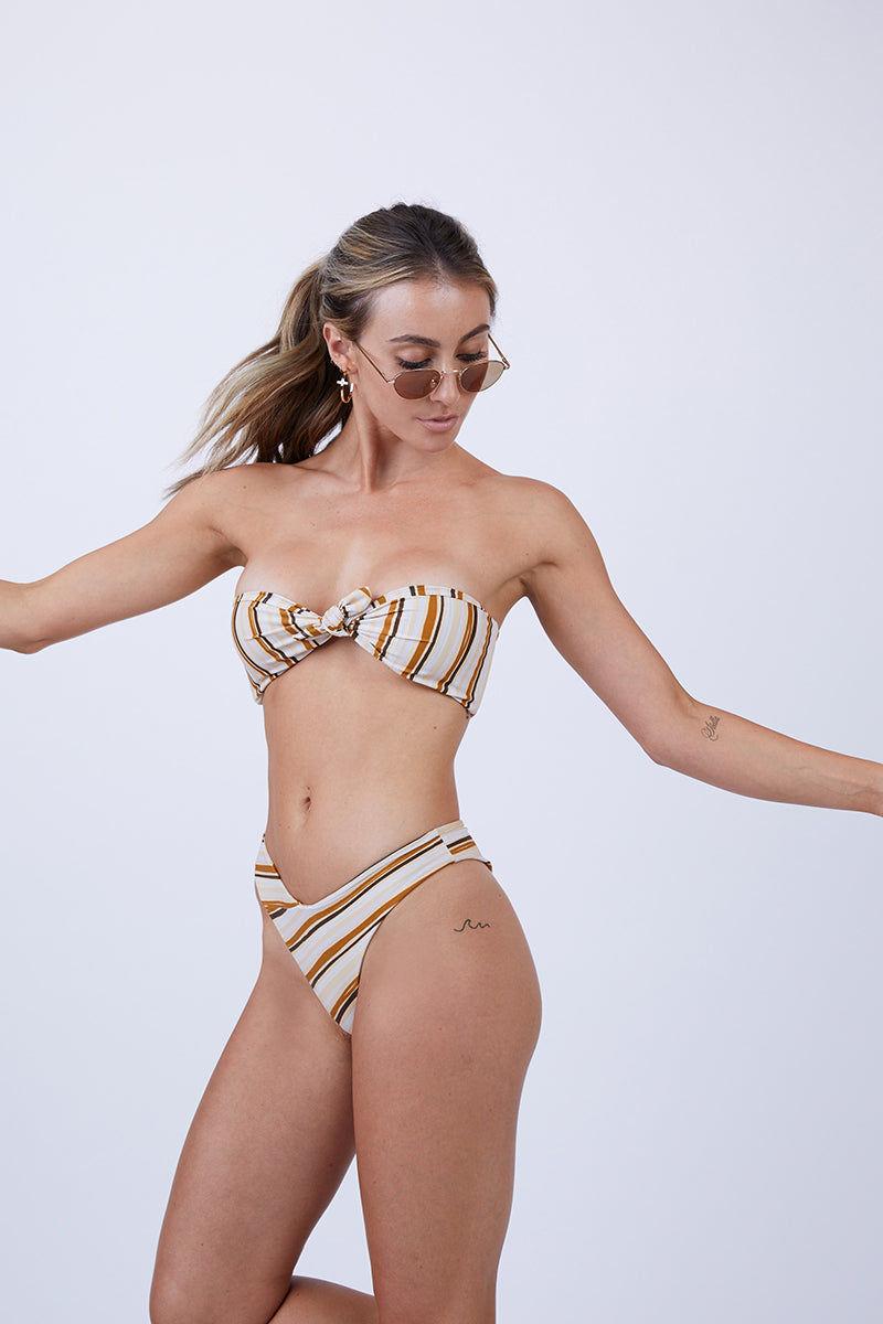 GILLIA Amanda Bikini Bottom - Retro Bikini Bottom   Retro  GILLIA Adele Hipster Bikini Bottom - Retro Side View