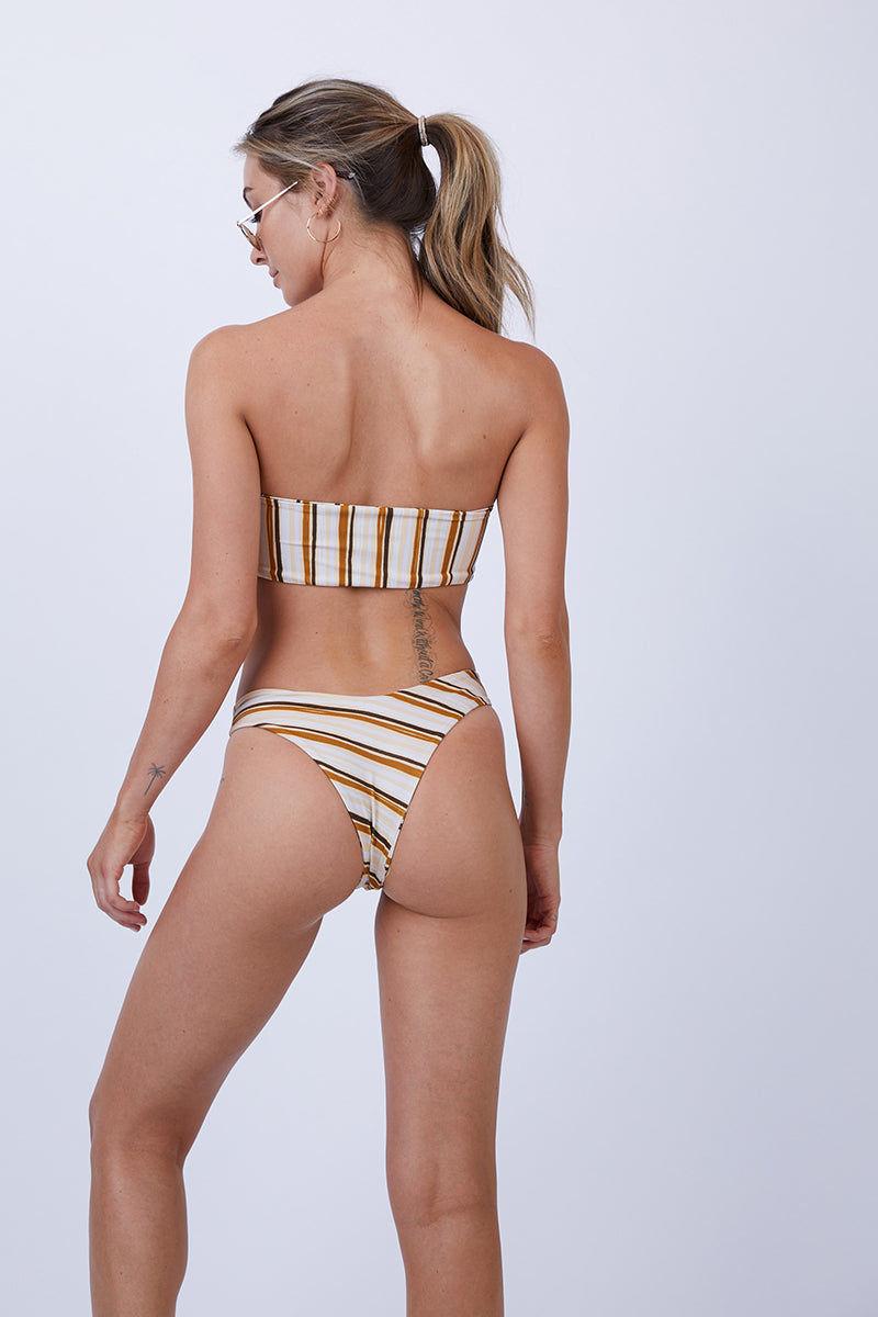 GILLIA Amanda Bikini Bottom - Retro Bikini Bottom   Retro  GILLIA Adele Hipster Bikini Bottom - Retro Back View