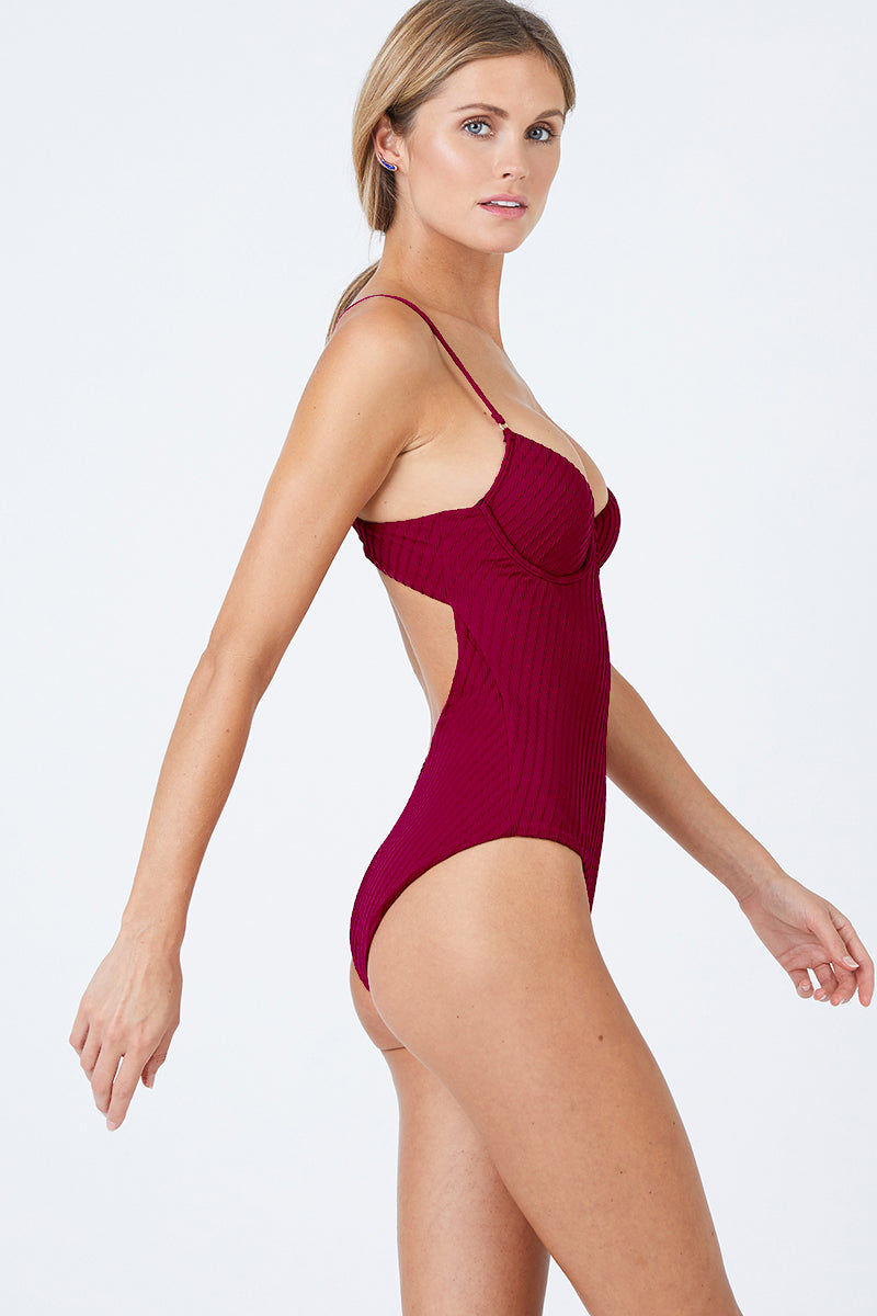 7e77a86e283 FELLA Sebastian Underwire One Piece Swimsuit - Magenta